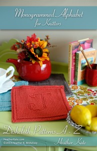 Monogrammed Dishcloth Knitting Patterns