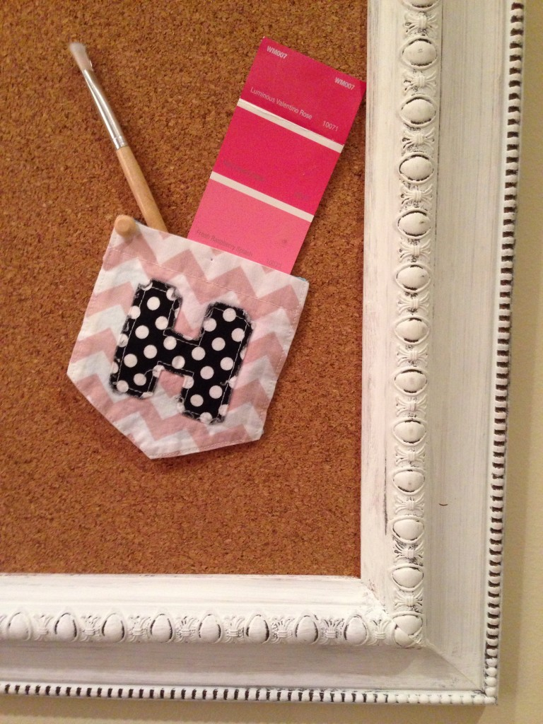 Re-Use Monogrammed Pocket Tees on Bulletin Boards