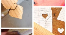 Wooden Heart Charm Kid's Woodworking Project