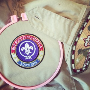 How to Sew Boy Scout Patches