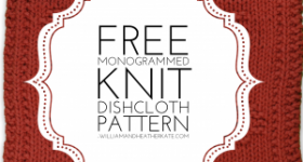 Free Monogrammed Knit Dishcloth Pattern