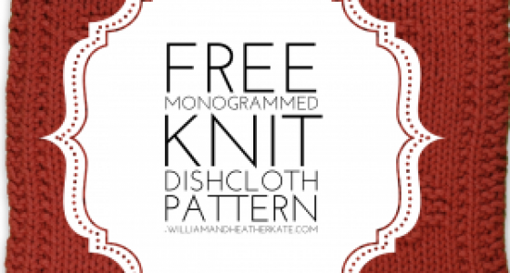 Monogrammed Knitting Patterns From A To Z William And Heather Kate